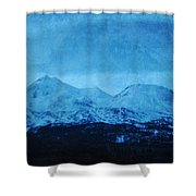 Mount Shasta Twilight Shower Curtain