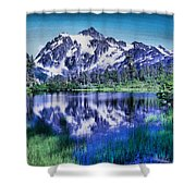 Mount Shuksan And Picture Lake Shower Curtain