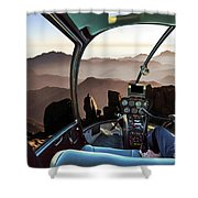 Mount Sinai Helicopter Shower Curtain