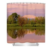 Mount St Helens Reflection During Sunset Shower Curtain