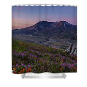 Mount St Helens Spring Colors Shower Curtain