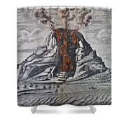 Mount Vesuvius, 1665 Shower Curtain