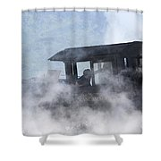Mount Washington Cog Railroad - New Hampshire Usa Shower Curtain