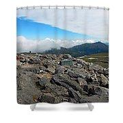 Mount Washington Observatory Shower Curtain