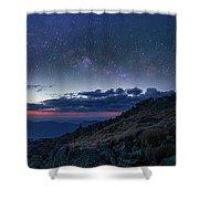 Mount Washington Summit Milky Way Panorama Shower Curtain