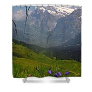 Mount Wetterhorn And The Grindelwald Shower Curtain