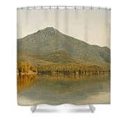 Mount Whiteface From Lake Placid Shower Curtain by Albert Bierstadt