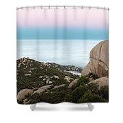 Mount Woodson Moonset Shower Curtain