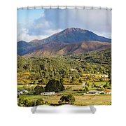 Mount Zeehan Valley Town. West Tasmania Australia Shower Curtain