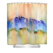 Mountain And Hill Abstract Shower Curtain