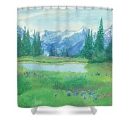 Mountain And Lake Shower Curtain