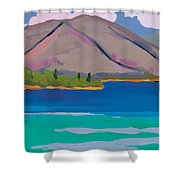 Mountain And Pines Shower Curtain