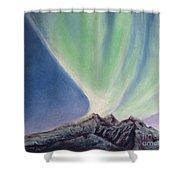 Mountain Aurora Shower Curtain