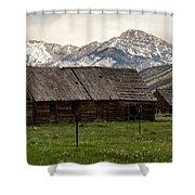 Mountain Barn Shower Curtain