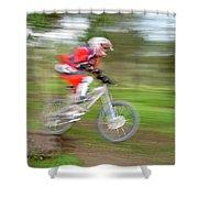 Mountain Bike Rider Shower Curtain