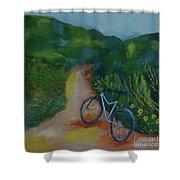 Mountain Biking In The Santa Monica Mountains Shower Curtain