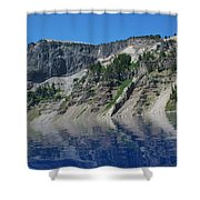Mountain Blue Shower Curtain