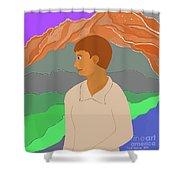 Mountain Boy Shower Curtain