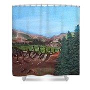 Mountain Cabin Shower Curtain
