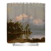 Mountain Canoeing Shower Curtain