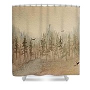 Mountain Evergreens Shower Curtain
