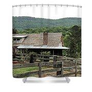 Mountain Farm Shower Curtain