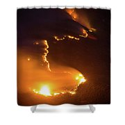 Mountain Fire Shower Curtain