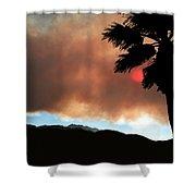 Mountain Fire Sunset Shower Curtain