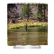 Mountain Fisherman Shower Curtain