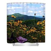 Mountain Flowers Shower Curtain