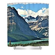 Mountain Glacier And Lake  Shower Curtain