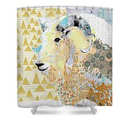 Mountain Goat Collage Shower Curtain