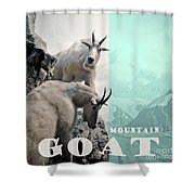 Mountain Goats Shower Curtain