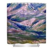 Mountain Gorge Italian Alps Shower Curtain