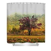 Mountain Haze In A Oak Glen Autumn Shower Curtain