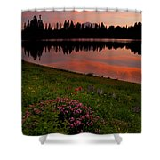 Mountain Heather Reflections Shower Curtain
