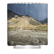 Time For Rain Shower Curtain