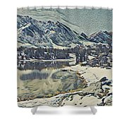 Mountain Lake, California Shower Curtain