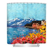 Mountain Lake In Italy Shower Curtain