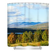 Mountain Lake In The Fall Shower Curtain