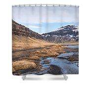 Mountain Landscape Iceland Shower Curtain