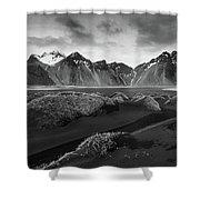 Icelandic Mountain  Landscape Shower Curtain
