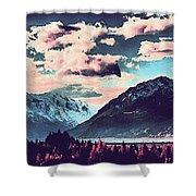 Mountain  Landscape Vista Shower Curtain