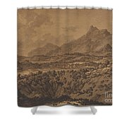 Mountain Landscape With A Hollow Shower Curtain