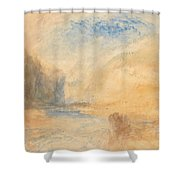 Mountain Landscape With Lake Shower Curtain