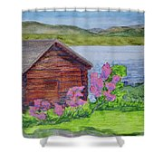 Mountain Laurel By The Cabin Shower Curtain