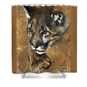 Mountain Lion - Guardian Of The North Shower Curtain