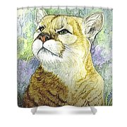 Mountain Lion Shower Curtain