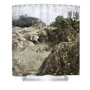 Mountain Lion Country Shower Curtain