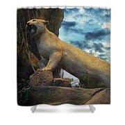 Mountain Lion - Paint Fx Shower Curtain